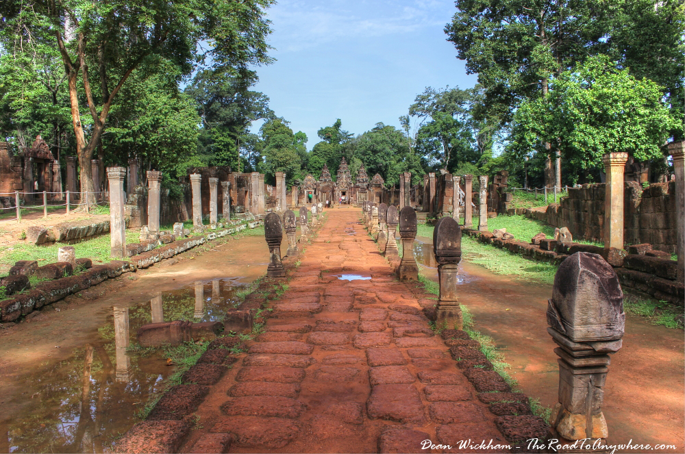 Path leading to Banteay Srei in Angkor, Cambodia