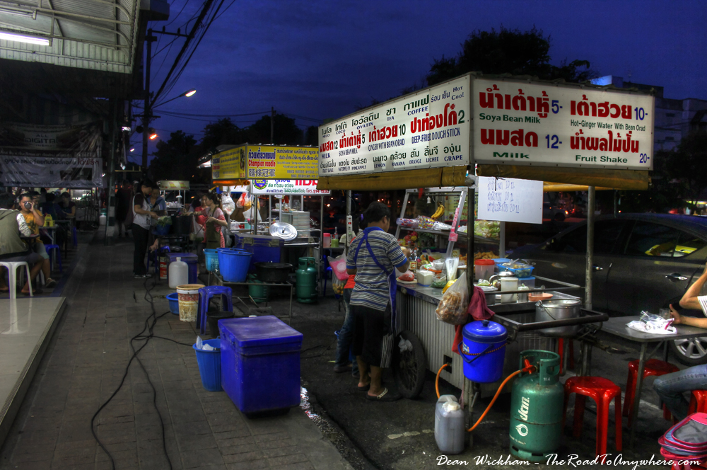 Fruit Shake Stand in Chiang Mai, Thailand
