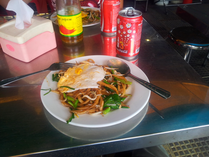 Noodles at the Central Market in Phnom Penh, Cambodia