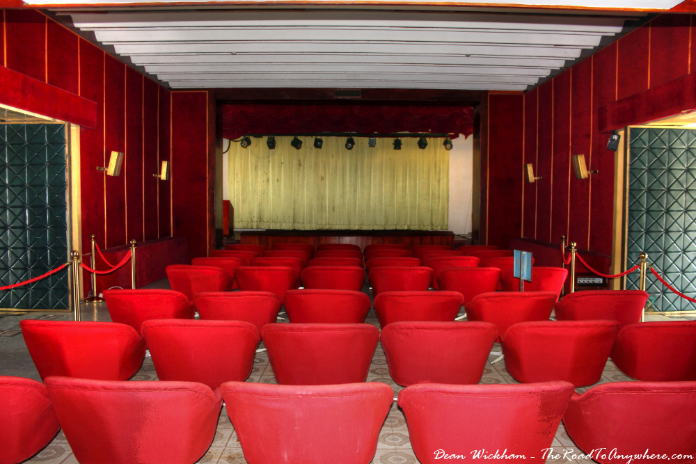 Theatre at the Reunification Palace in Saigon, Vietnam