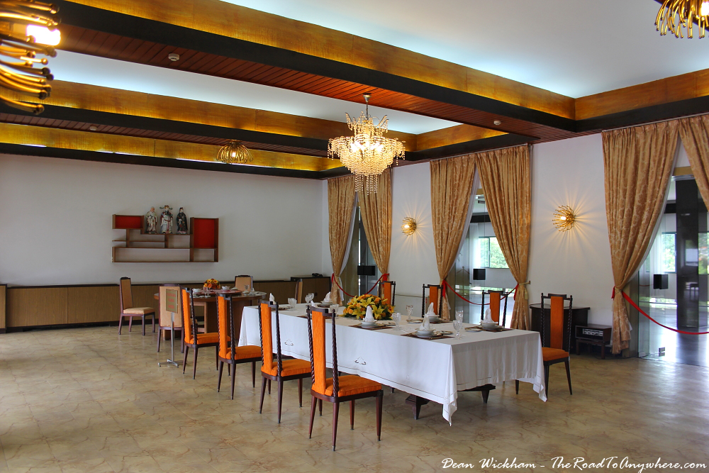 Dining room at the Reunification Palace in Saigon, Vietnam