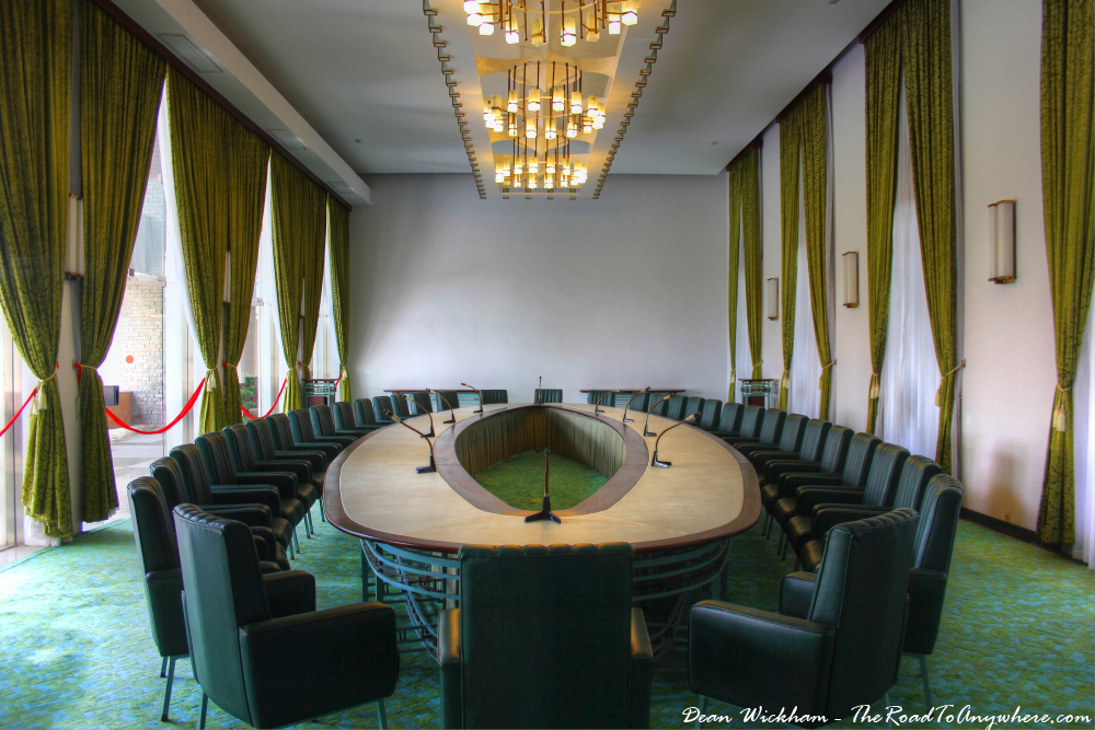Cabinet Meeting Room at the Reunification Palace in Saigon, Vietnam