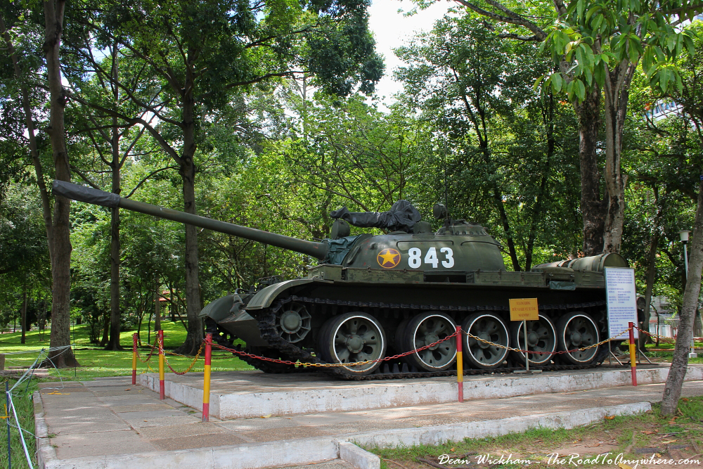 Tank at the Reunification Palace in Saigon, Vietnam