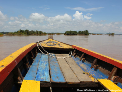 Boating on the Mekong River in Kratie, Cambodia
