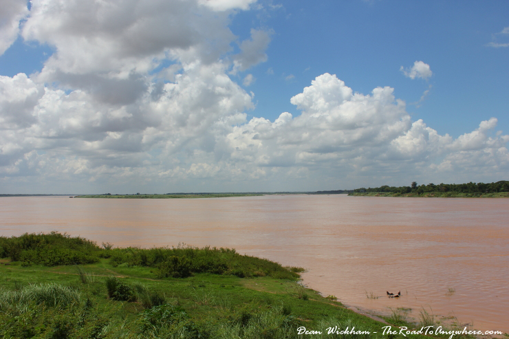 View of the Mekong River in Kampong Cham, Cambodia