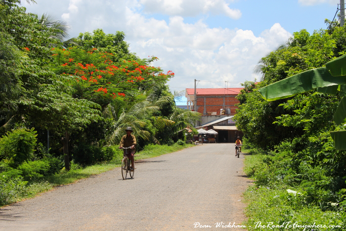 A quiet street in Kampong Cham, Cambodia