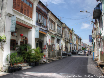 Love Lane in Chinatown in Georgetown, Penang, Malaysia
