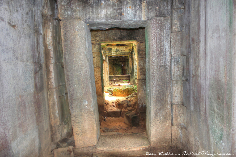 Ancient doorway at Ta Som in Angkor, Cambodia