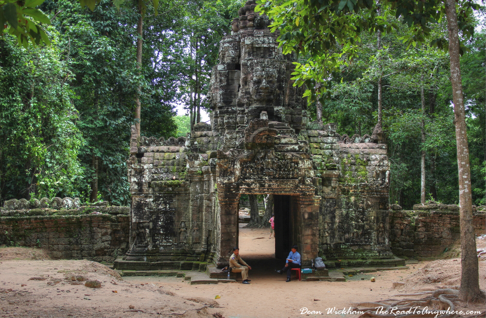 Entrance to Ta Som in Angkor, Cambodia