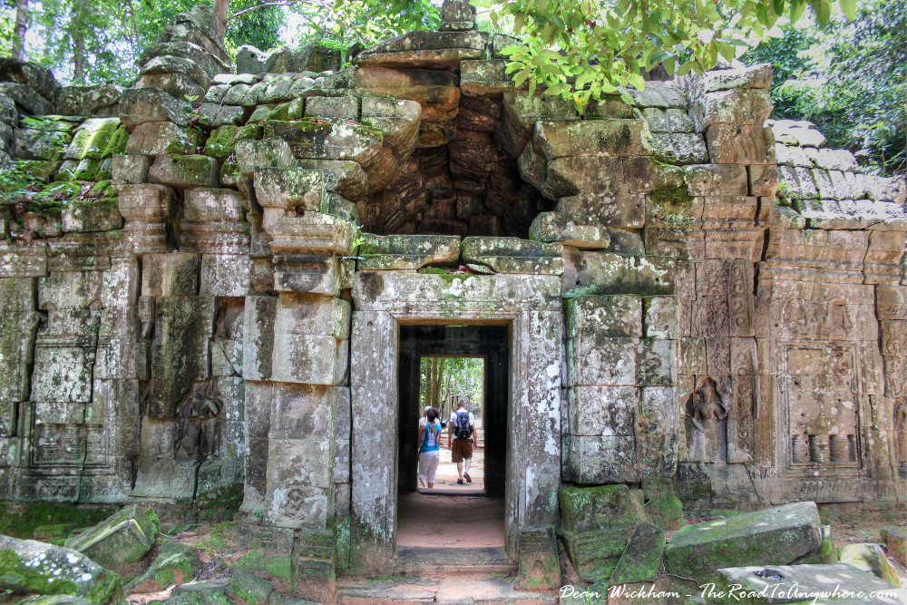 Ancient gate at Ta Som in Angkor, Cambodia