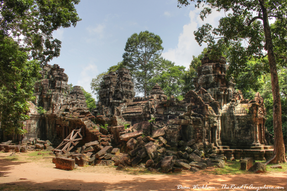 Ruins at Ta Som in Angkor, Cambodia