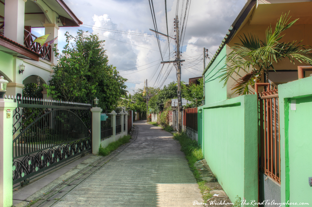 A quiet alleyway in Chiang Mai, Thailand