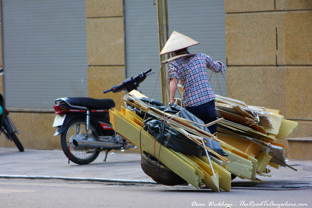 A person with a heavy in Hanoi, Vietnam