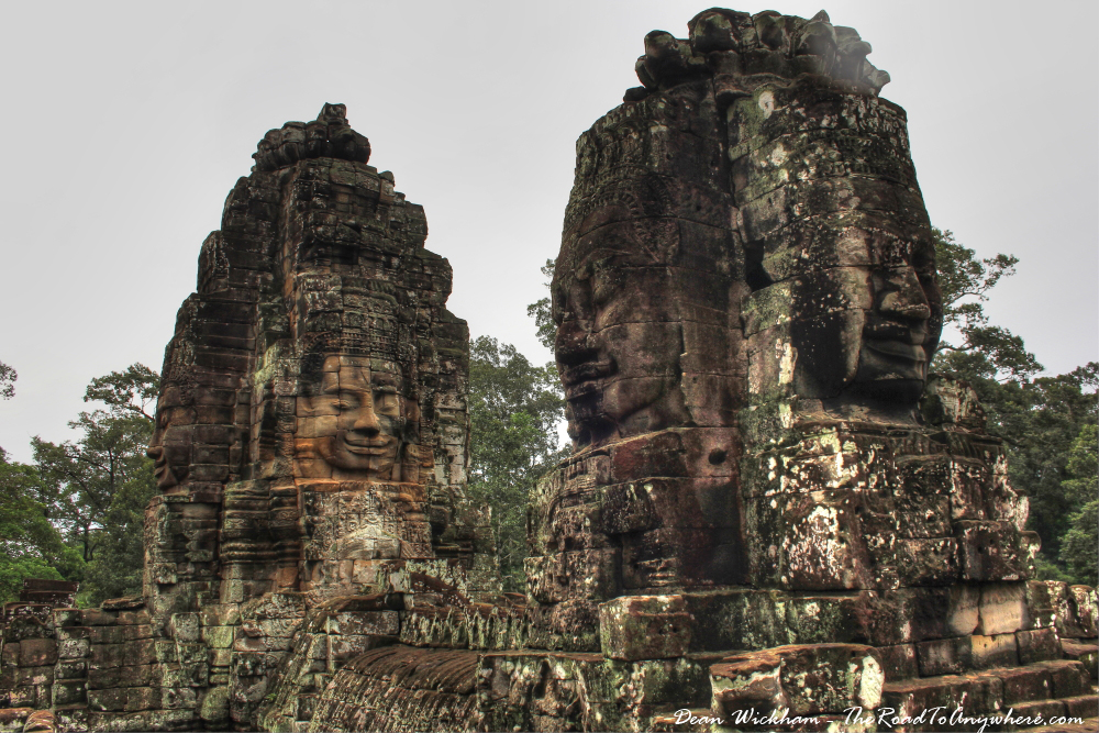 Towers at Bayon in Angkor Thom, Cambodia