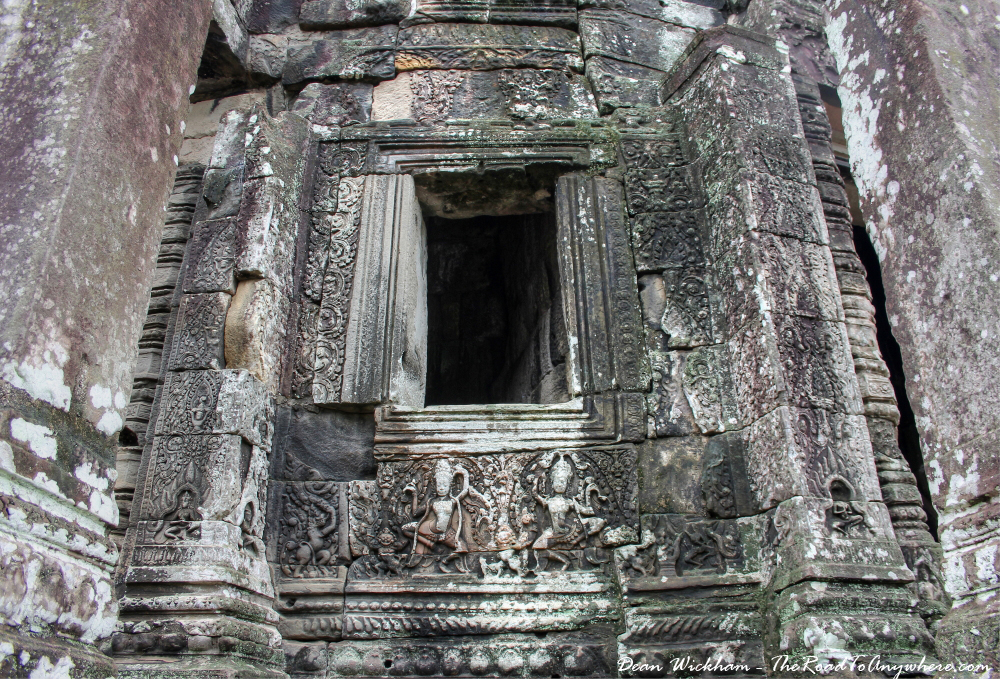 Ancient window at Bayon in Angkor Thom, Cambodia