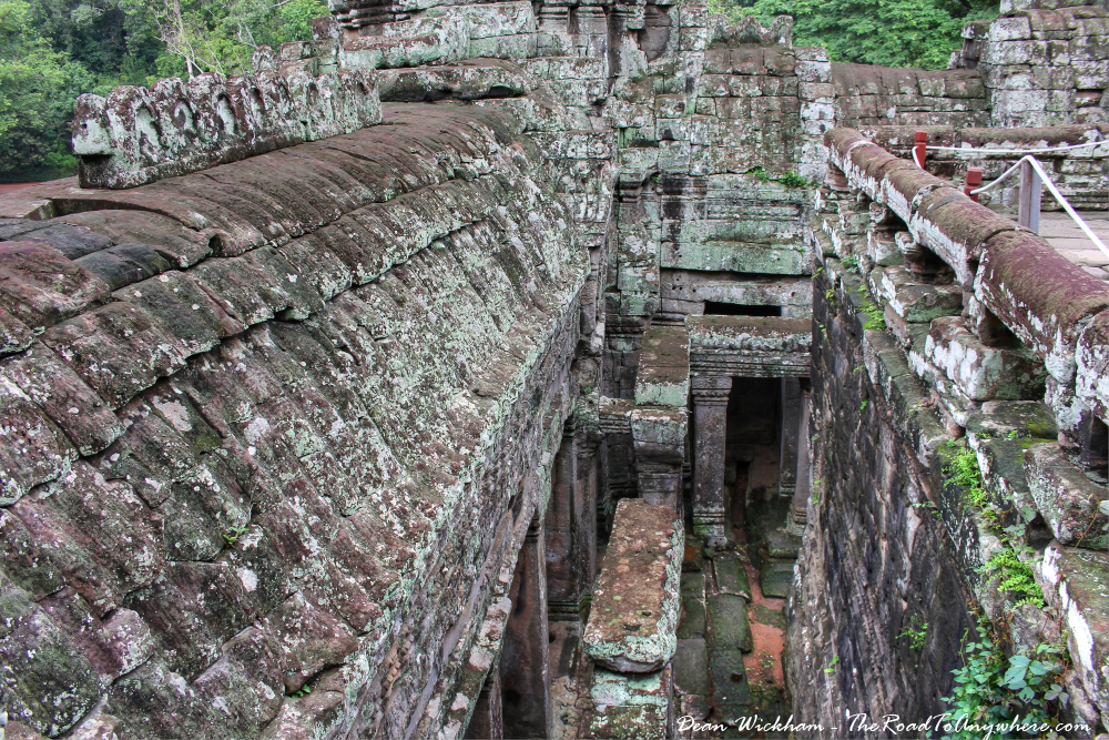 View to the lower levels at Bayon in Angkor Thom, Cambodia