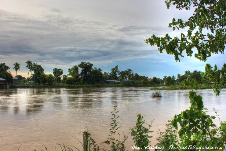 View from our bungalow on Don Khone, Laos