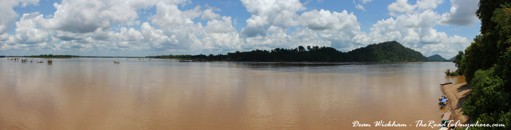 View from the southern tip of Don Khone in Si Phan Don, Laos