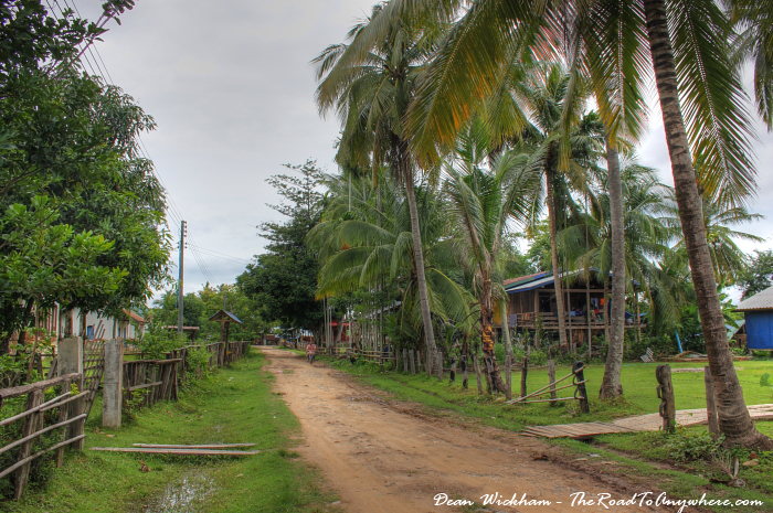 Main street on Don Khone, Laos