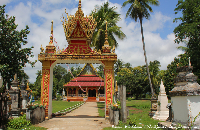Temple on Don Khone in Laos