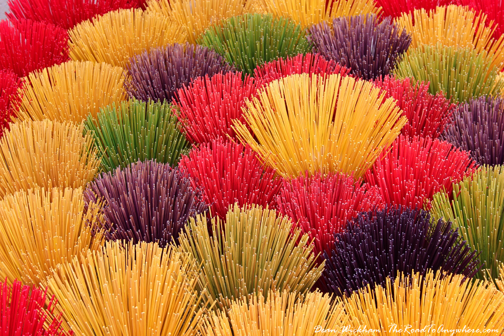 Incense sticks drying in the sun near Hue, Vietnam