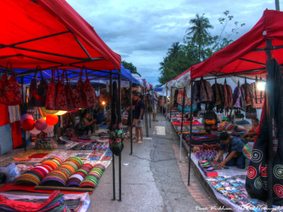 Handicraft Night Market in Luang Prabang, Laos