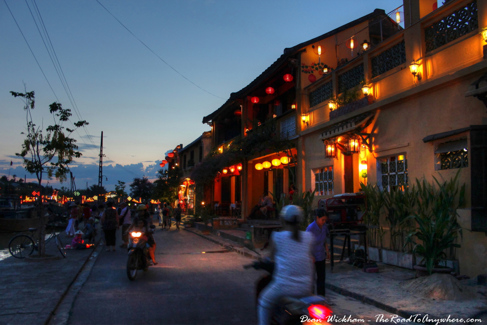 Waterfront street in Hoi An, Vietnam