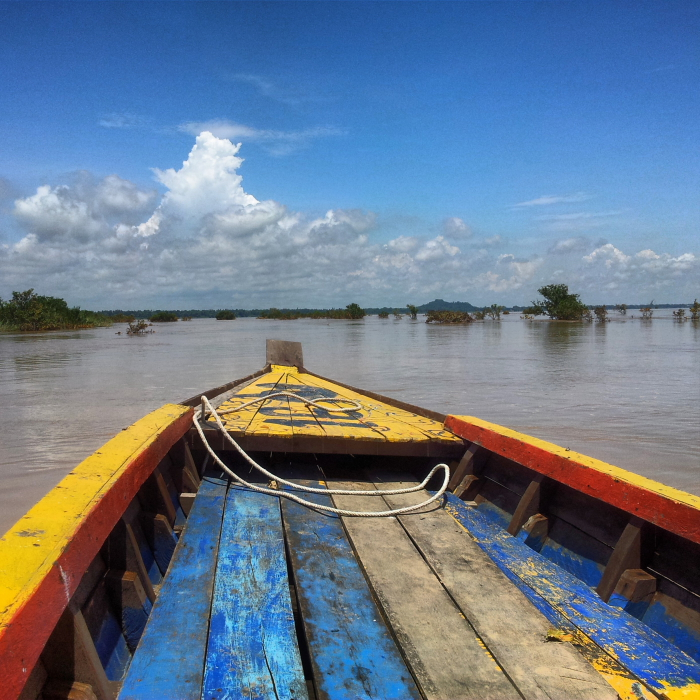 Searching for Irrawaddy Dolphins on the Mekong River, Cambodia