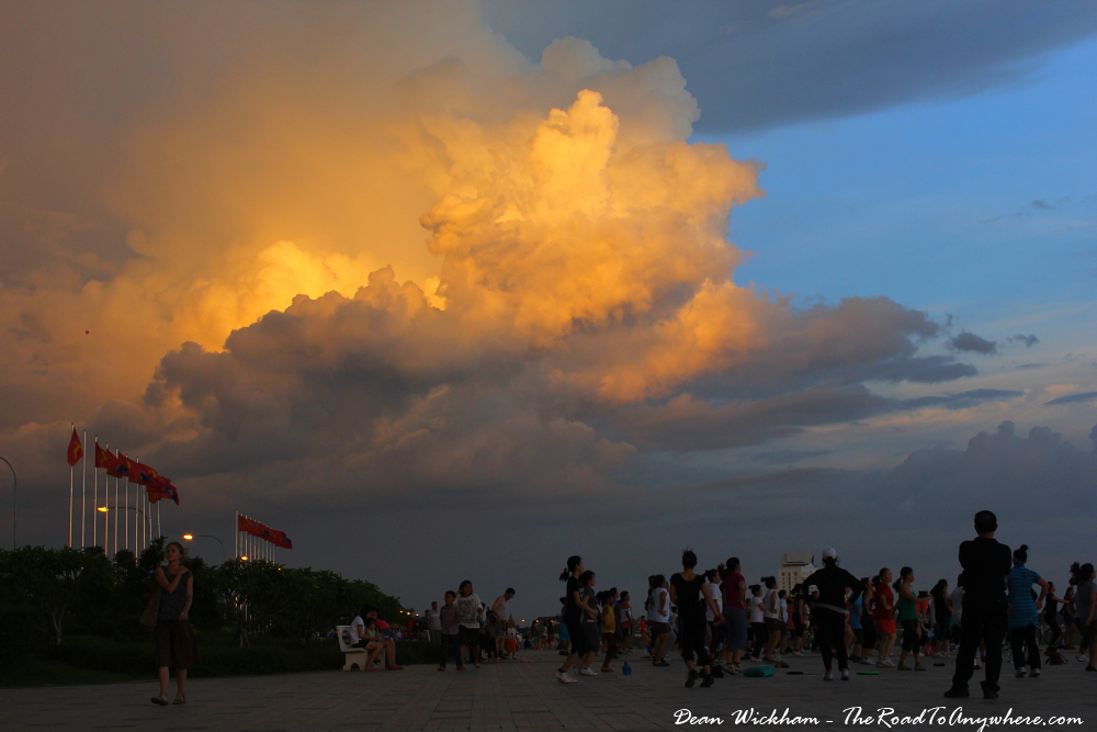 Glowing clouds in Vientiane, Laos