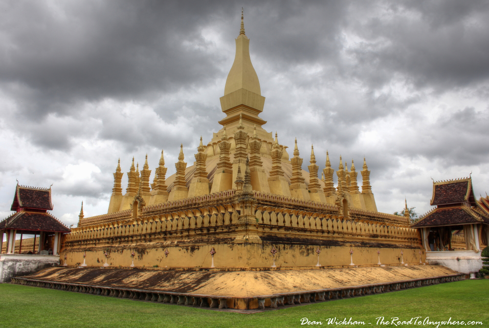 Golden stupa of That Luang in Vientiane, Laos