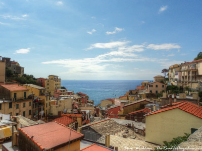 Rooftop view in Riomaggiore, Italy