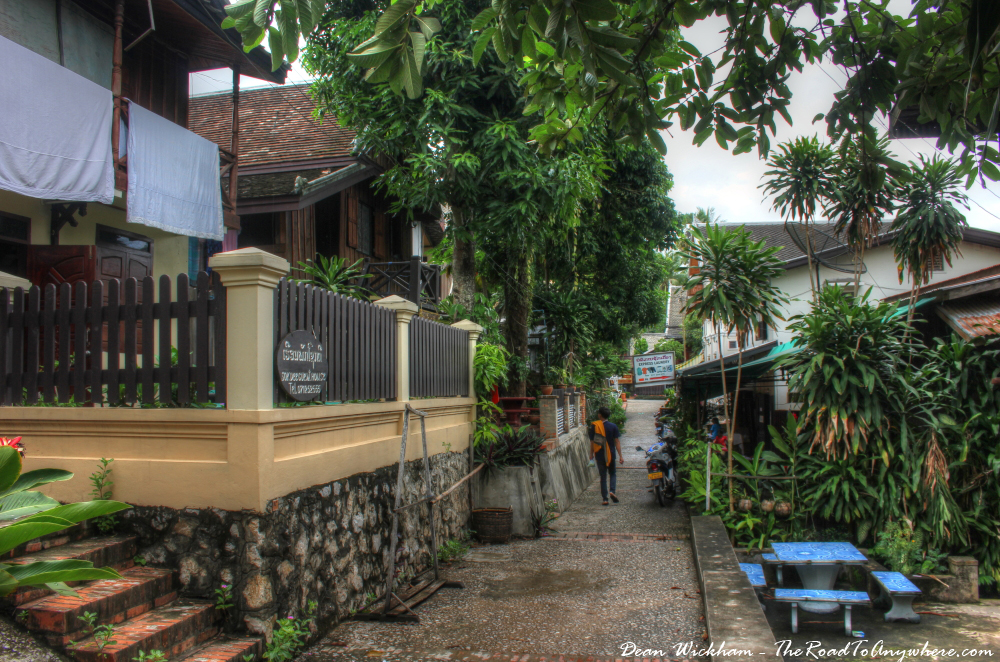 Our quiet alley in Luang Prabang, Laos