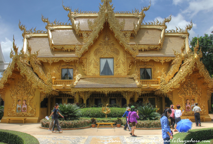Golden building at Wat Rong Khun (The White Temple) in Chiang Rai, Thailand