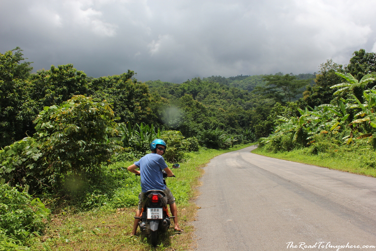 Riding a motorbike in Northern Thailand