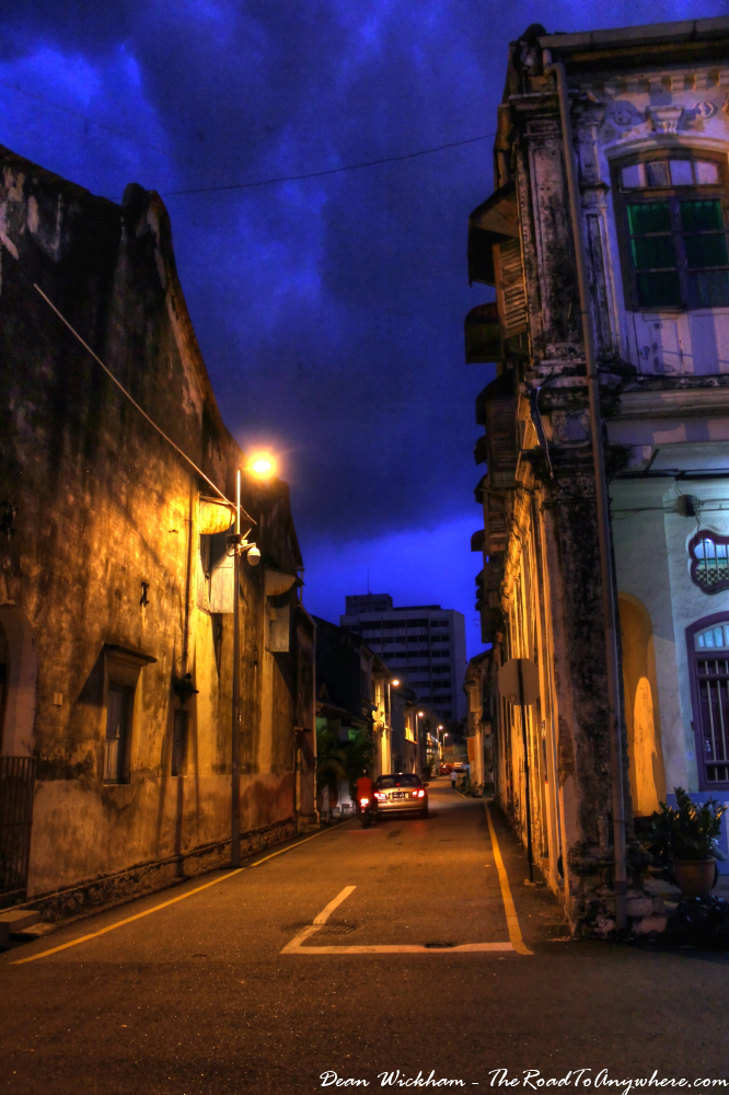 Quiet street in Chinatown, Penang, Malaysia