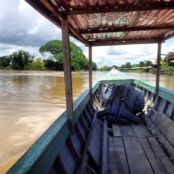 On the boat to Don Khone, Laos