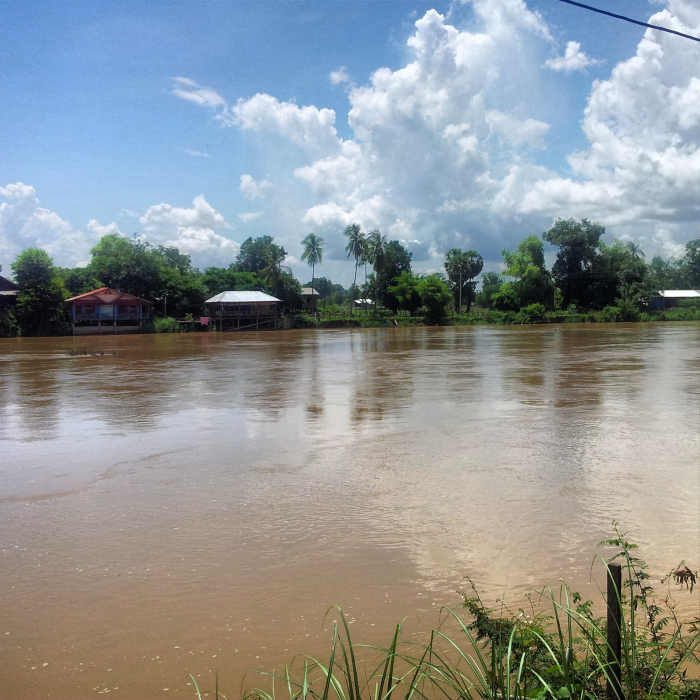 View of the Mekong River on Don Khone, Laos