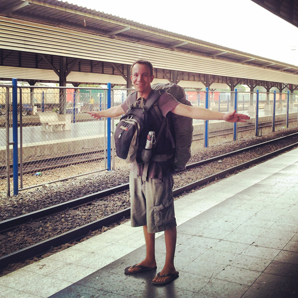 Waiting for the train in Hat Yai, Thailand