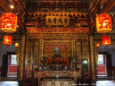 Shrine and alter at Khoo Kongsi Clanhouse in George Town, Penang, Malaysia