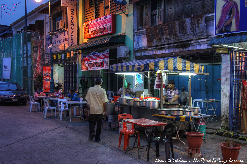 Street side restaurant in Little India, George Town, Malaysia