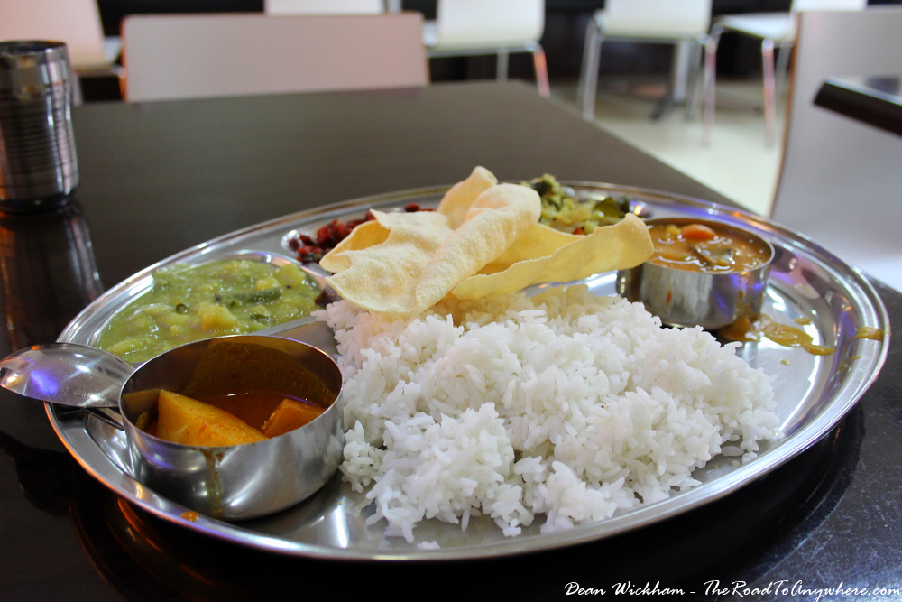 Vegetable Thali in Little India in George Town, Penang, Malaysia