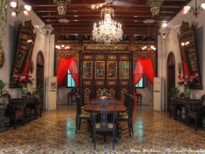 Dining Room in Pinang Peranakan Mansion in George Town, Malaysia