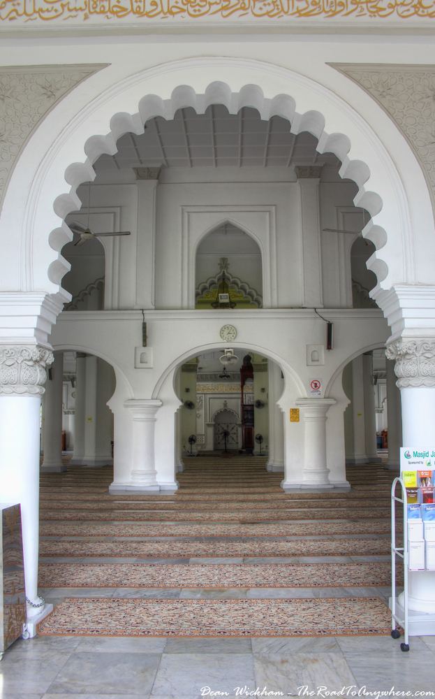 Arches at the entrance to Kapitan Keling Mosque in George Town, Penang