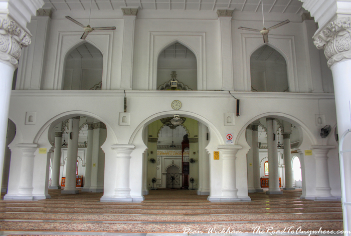 Prayer hall Kapitan Keling Mosque in George Town, Penang