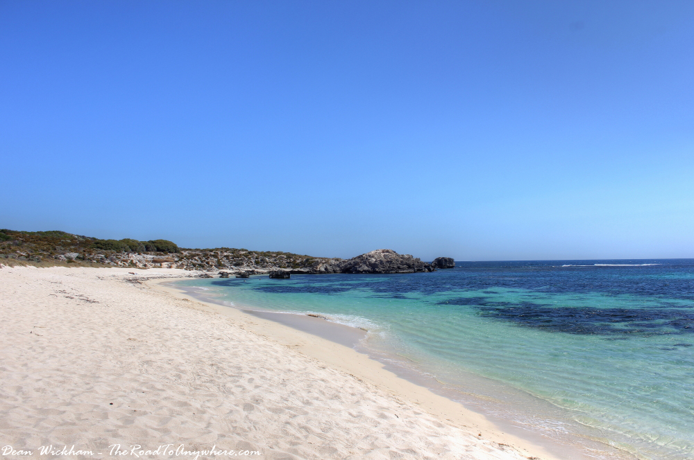 Empty White Sand Beach on Rottnest Island, Western Australia