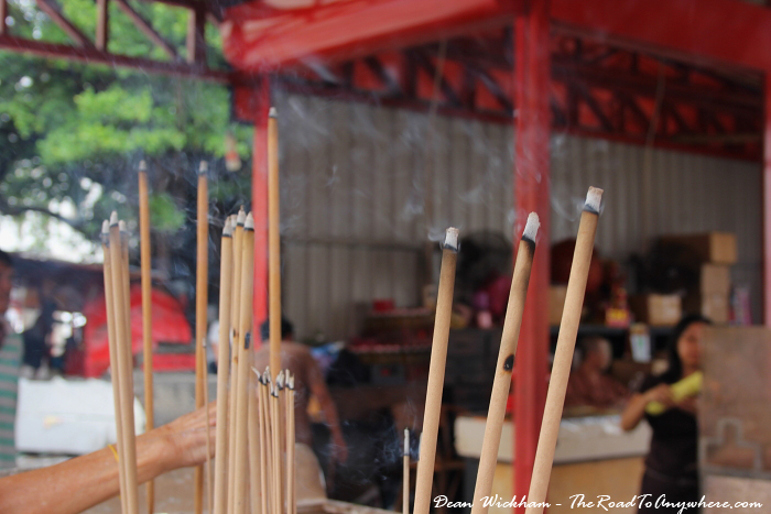 Joss sticks offered at Goddess of Mercy Temple in Penang, Malaysia