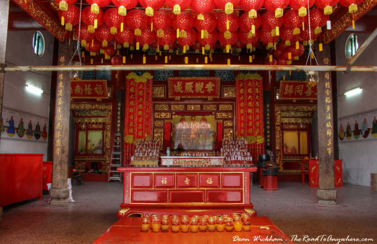 Main shrine at Goddess of Mercy Temple in Penang, Malaysia