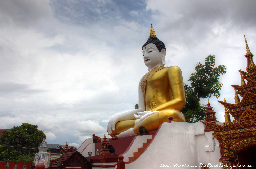 Buddha statue at Wat Monthian in Chiang Mai, Thailand
