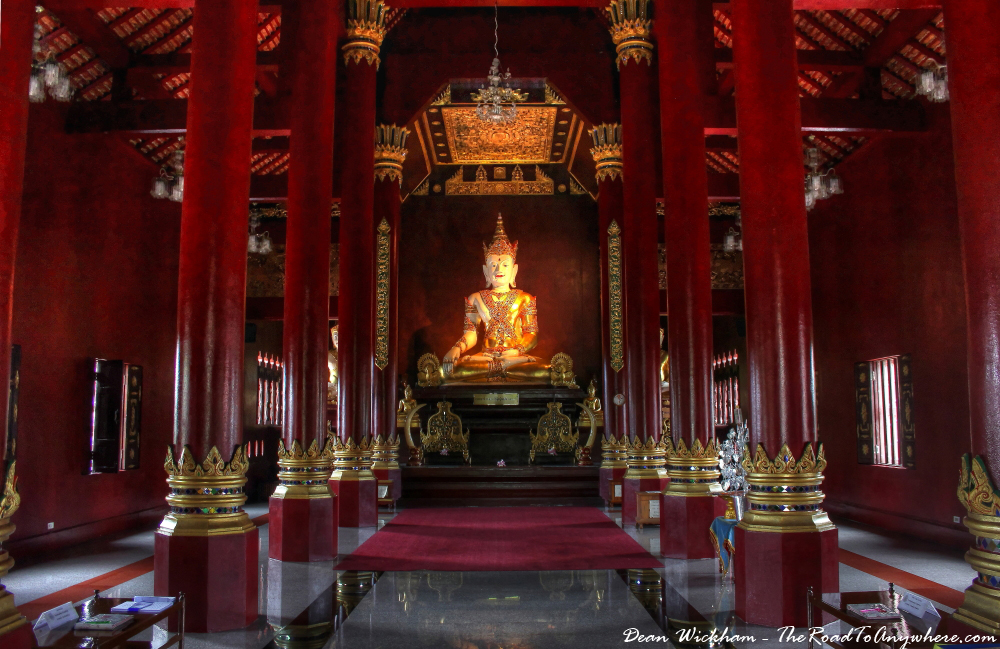 Interior of Wat Monthian in Chiang Mai, Thailand
