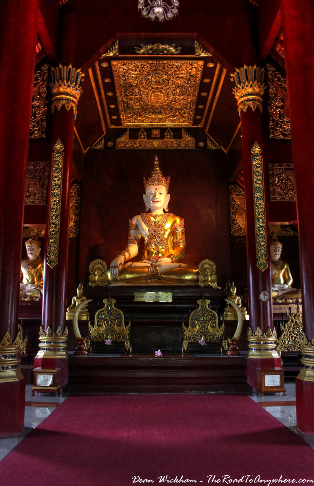 Main shrine at Wat Monthian in Chiang Mai, Thailand